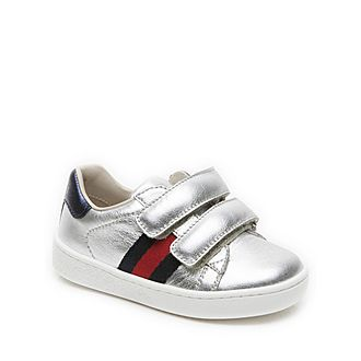 Leather Web Toddler Trainers