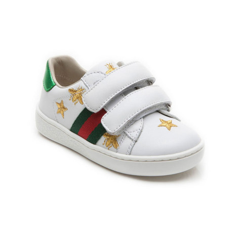 Bees And Stars Leather Toddler Trainers, ${color}