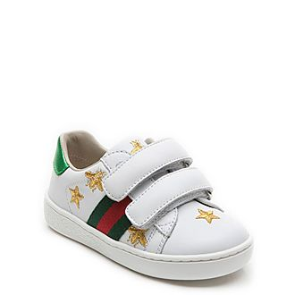 Bees And Stars Leather Toddler Trainers