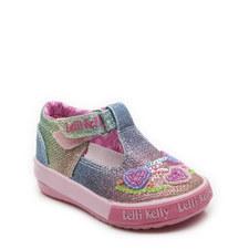 Rainbow Heart T-Bar Shoes