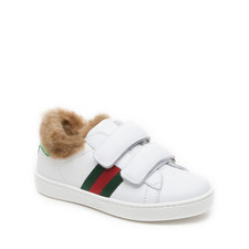 Faux Fur Girls Trainers