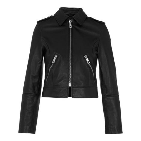 Brooke Leather Biker Jacket, ${color}