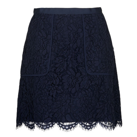 Scallop Lace Pocket Skirt, ${color}