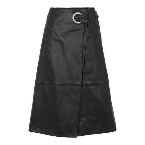 Lori Eyelet Leather Skirt, ${color}