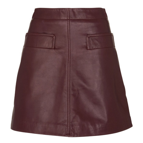 Rita Leather Skirt, ${color}