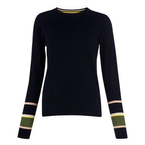 Stripe Cuff Knit Sweater, ${color}