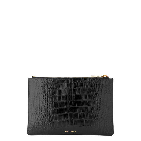 Lizard Embossed Clutch Small, ${color}