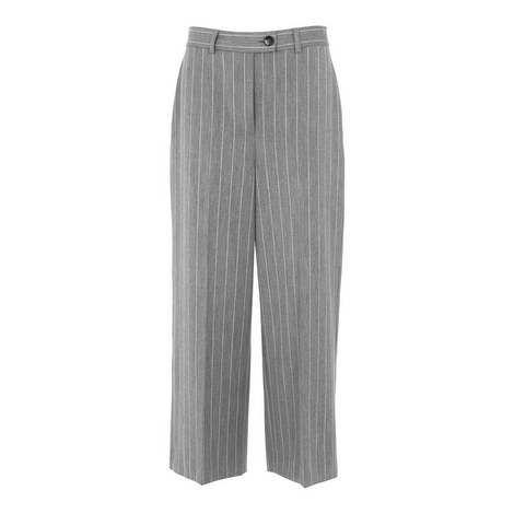 Stripe Cropped Trousers, ${color}