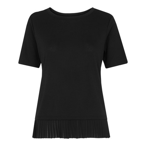 Pleat Trim T-Shirt, ${color}