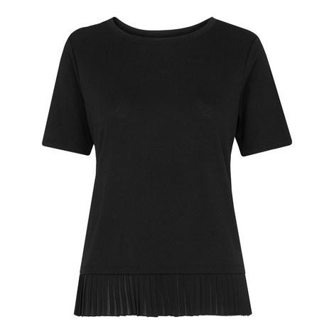 Pleat Trim T-Shirt, ${color}