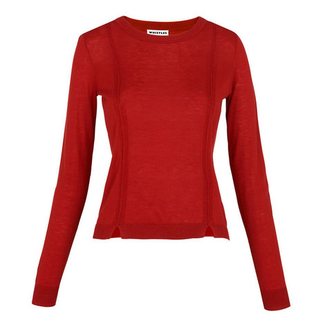 Charo Split Hem Jumper, ${color}