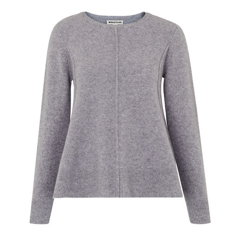 Boiled Wool Trapeze Sweater, ${color}