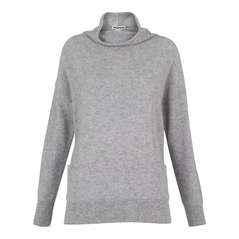 Cashmere Funnel Neck Sweater, ${color}