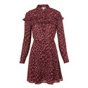 Lucinda Giraffe Print Silk Dress, ${color}