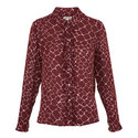 Giraffe Print Silk Shirt, ${color}