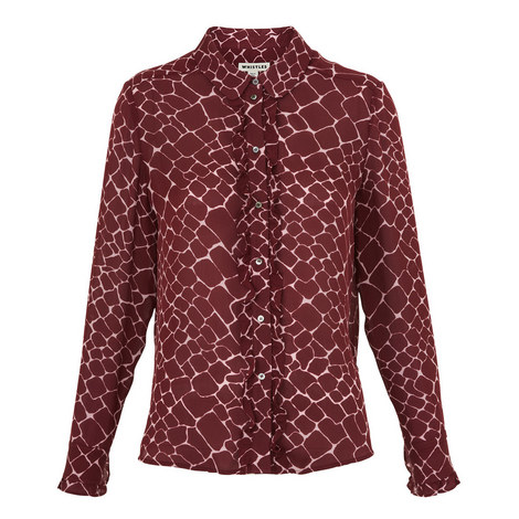 Giraffe Print Silk Shirt, ${color}