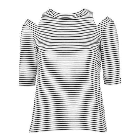Split Shoulder Stripe Top, ${color}
