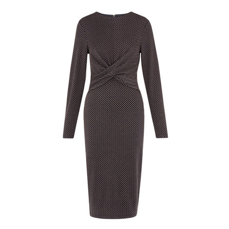 Millie Jacquard Jersey Dress, ${color}