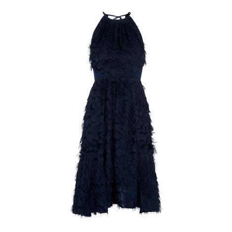 Irina Feathered Dress, ${color}