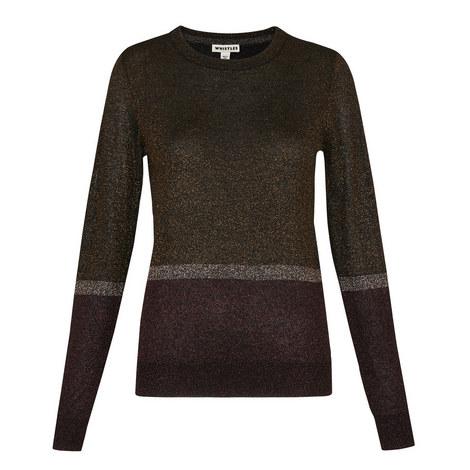 Colour Block Sparkle Knit, ${color}