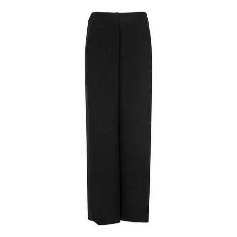 Satin Stripe Wide Leg Trousers, ${color}