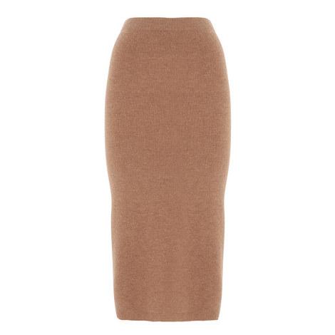 Cashmere Mix Knit Skirt, ${color}