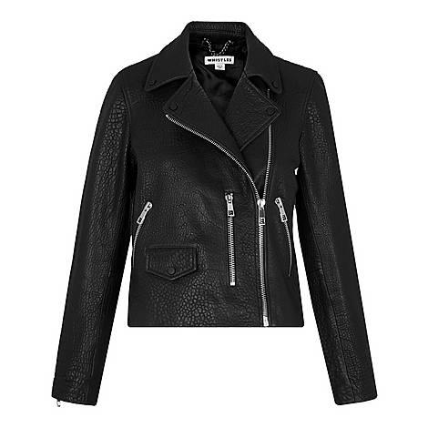 Agnes Bubble Biker Jacket, ${color}