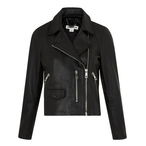 Agnes Leather Biker Jacket, ${color}