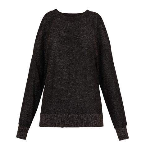 Split Shoulder Sparkle Sweater, ${color}