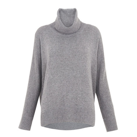 Dipped Roll Neck Knit, ${color}