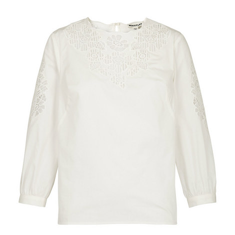 Beatrice Broderie Anglaise Blouse, ${color}