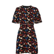 Estrella Printed A-Line Dress