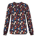 Pansy Print Blouse, ${color}
