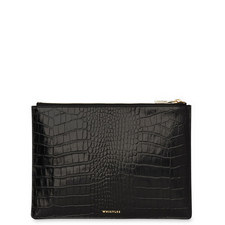 Croc Pouch Clutch Medium
