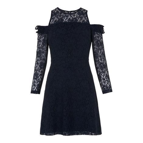 Cold Shoulder Lace Dress, ${color}