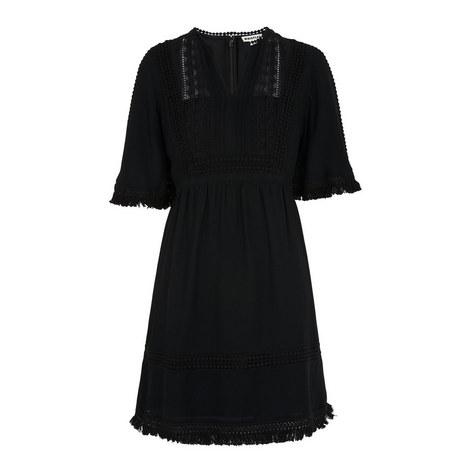 Tori Fringe Smock Dress, ${color}