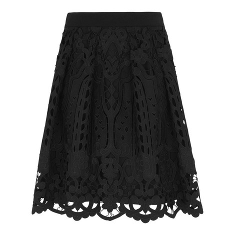 Cutwork Lace Skirt, ${color}