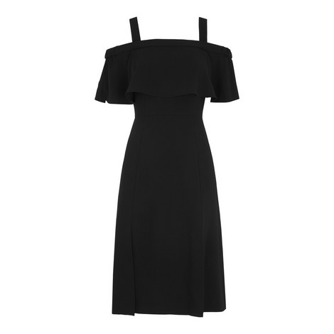 Piper Bardot Frill Dress, ${color}