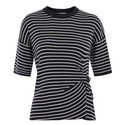 Knot Front Knitted T-Shirt, ${color}