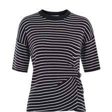 Knot Front Knitted T-Shirt