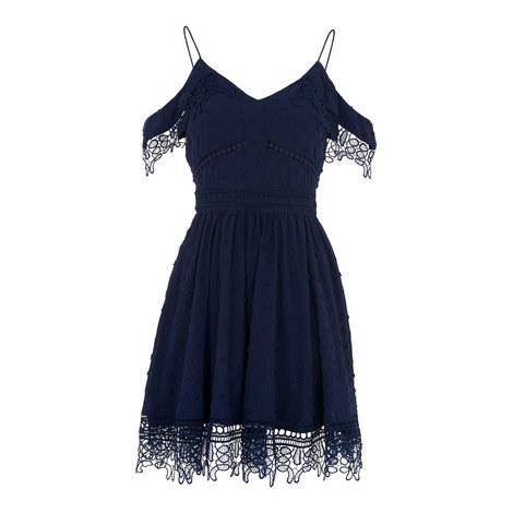 Issa Cold-Shoulder Mini Dress, ${color}