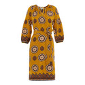 Tahlia Surya Print Silk Dress, ${color}