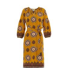 Tahlia Surya Print Silk Dress