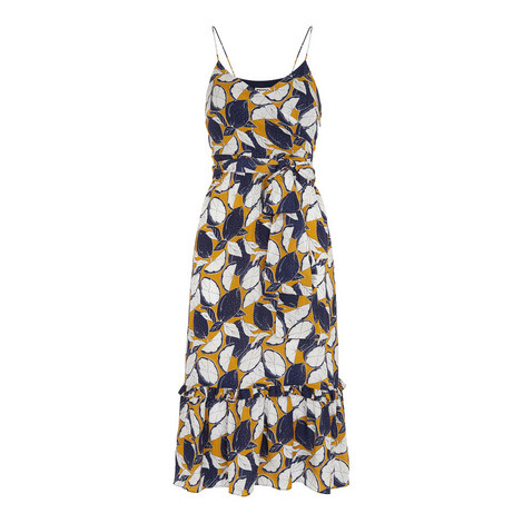 Lemon Print Slip Dress, ${color}