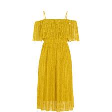 Plisse Off-Shoulder Dress