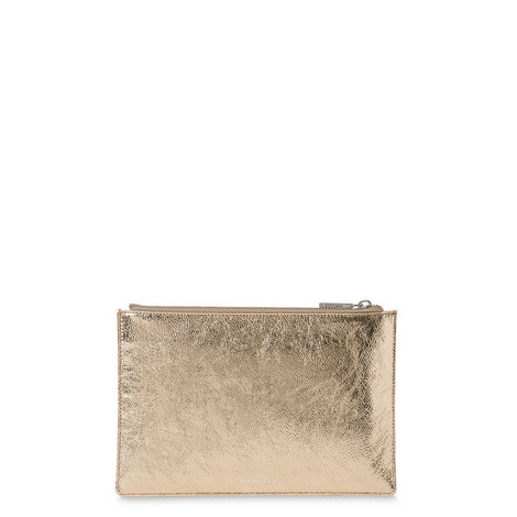 Cracked Leather Clutch Small, ${color}
