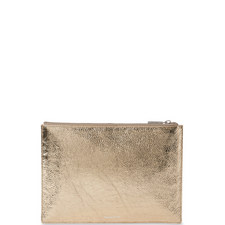 Cracked Leather Clutch Medium