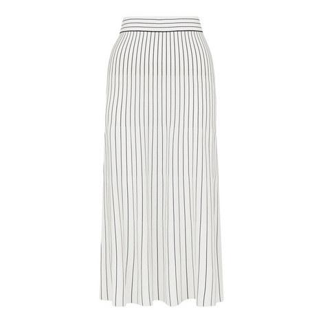 Gradual Stripe Knit Skirt, ${color}
