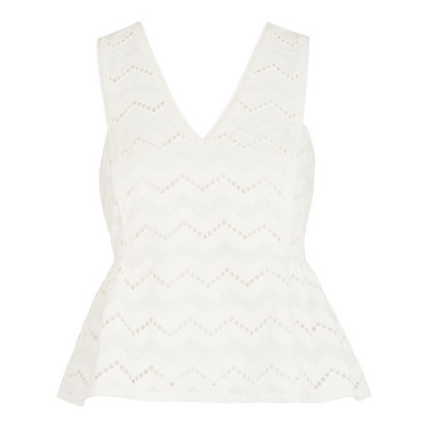 Caterina Peplum Frill Top, ${color}