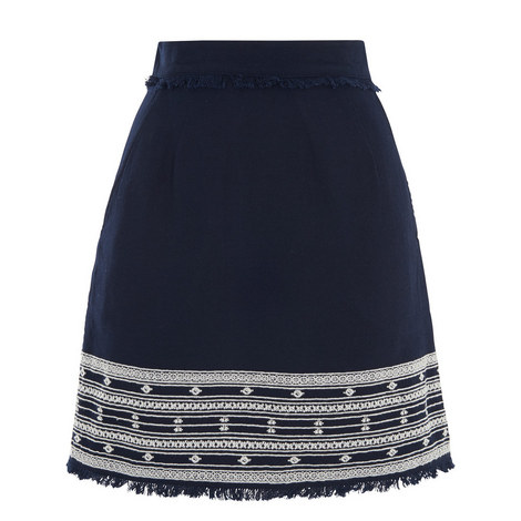 Selina Embroidered Skirt, ${color}